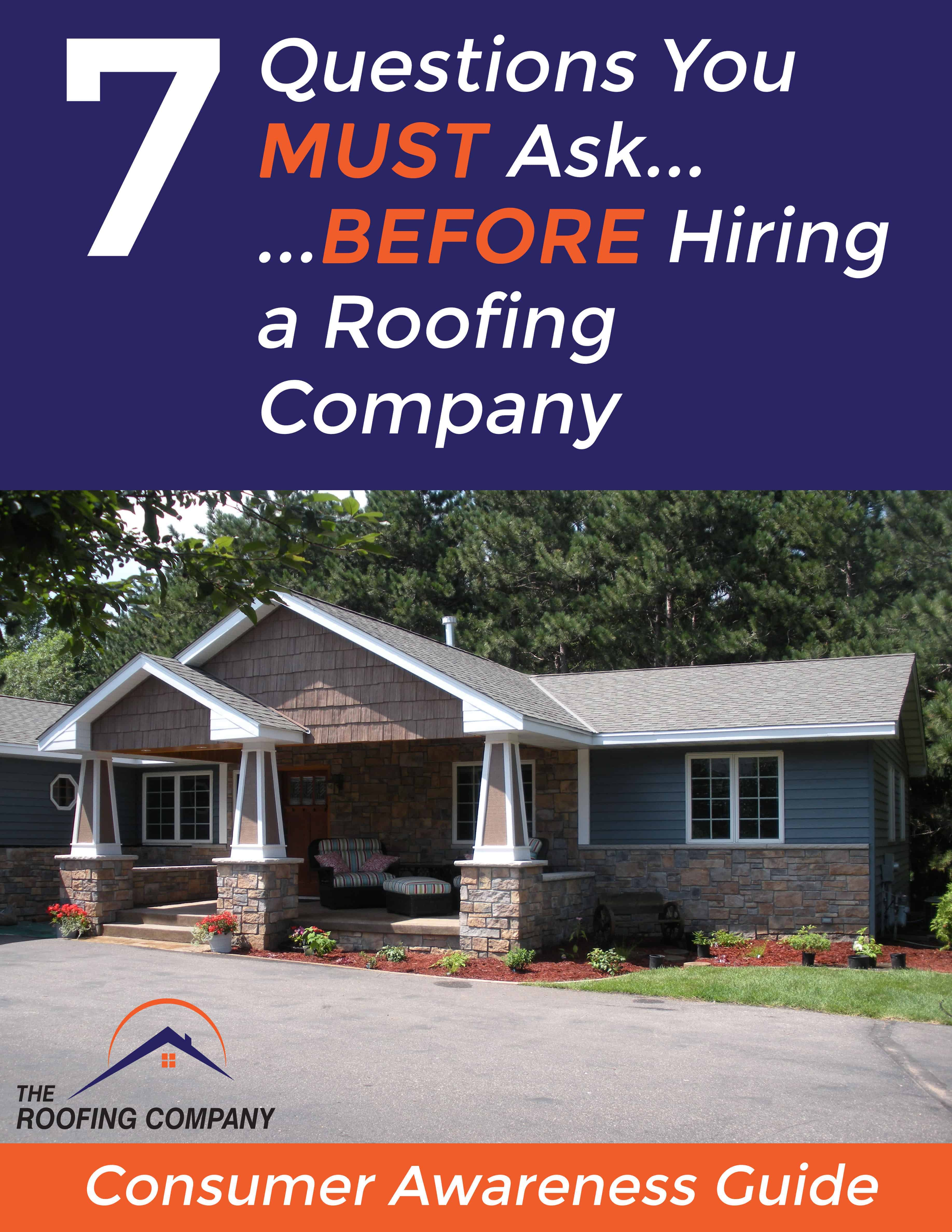 7 Questions Report Cover - Roofing Company Brantford ON - Roofing Contractor
