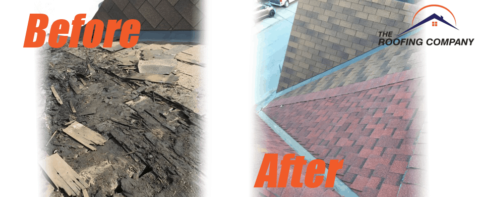 The Roofing Company Brantford ON - Roofing Contractor - Before and After Fade Image