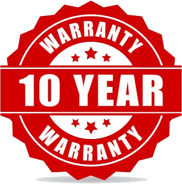 10 Year Warranty Badge