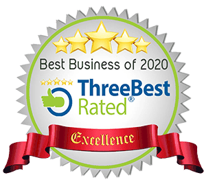 three best rated logo